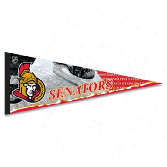 Ottawa Senators Black 12'' X 30'' Premium Felt Pennant
