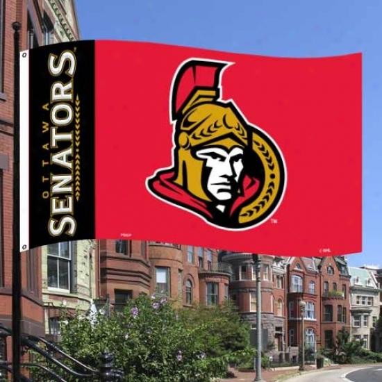 Ottawa Senators Flags : Ottawa Senators Black-red Premium 3' X 5' Flags