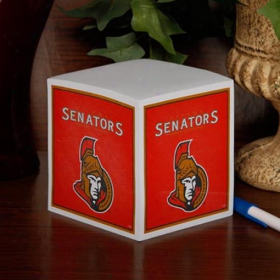 Ottawa Senators Note Cube