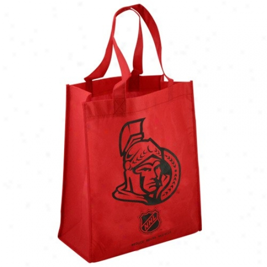 Ottawa Senators Red Reusable Tote Bag