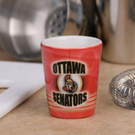 Ottawa Senators Red Slapshot Ceramic Shot Glass