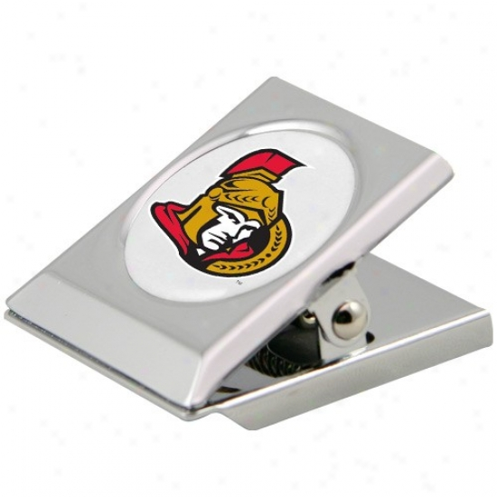 Ottawa Senators Silver Magnetic Heavy Duty Chip Clip