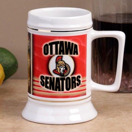Ottawa Senators Slapshot 28oz. Ceramic Stein