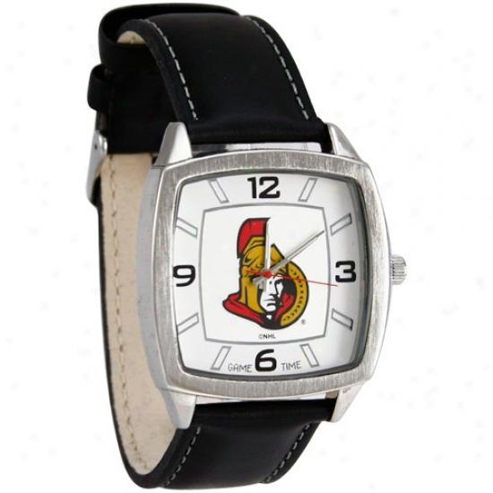 Ottawa Senators Watches : Ottawa Senators Retro Watches W/ Leather Band