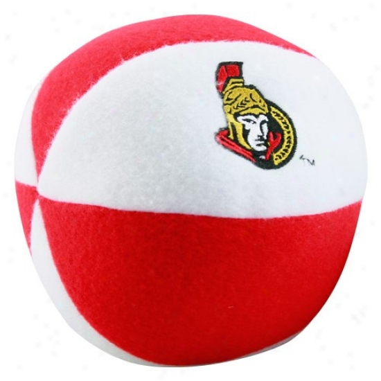 Ottawa Senators White-red Plush Team Ball Loud talk