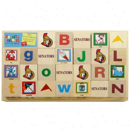 Ottawa Senators Woody Hockey Alphabet Blocks