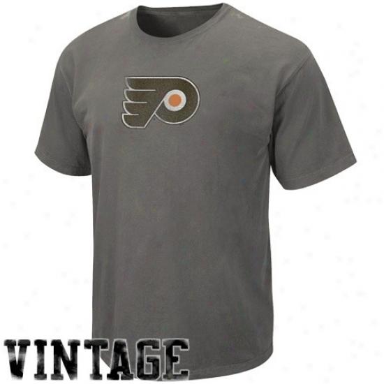 Philadelphia Flyer Attire: Majestic Philadelphia Flyer Black Big Time Play Vintage T-shirt