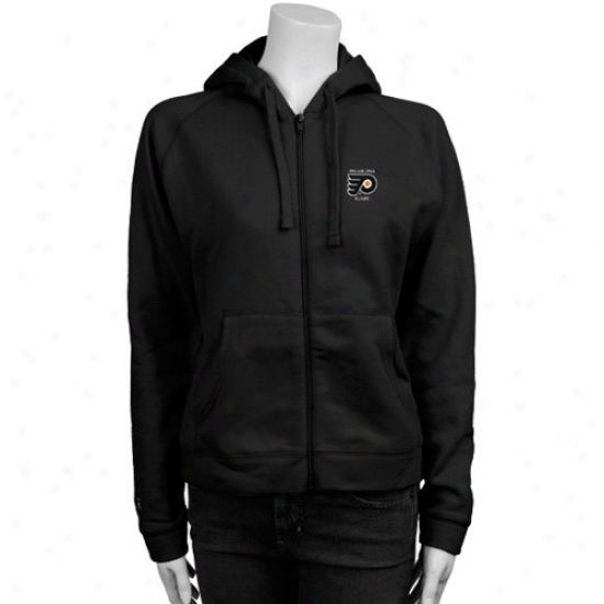 Philadelphia Flyer Hoodies : Antigua Philadelphia Flyer Ladies Black Full Zip Hkodies