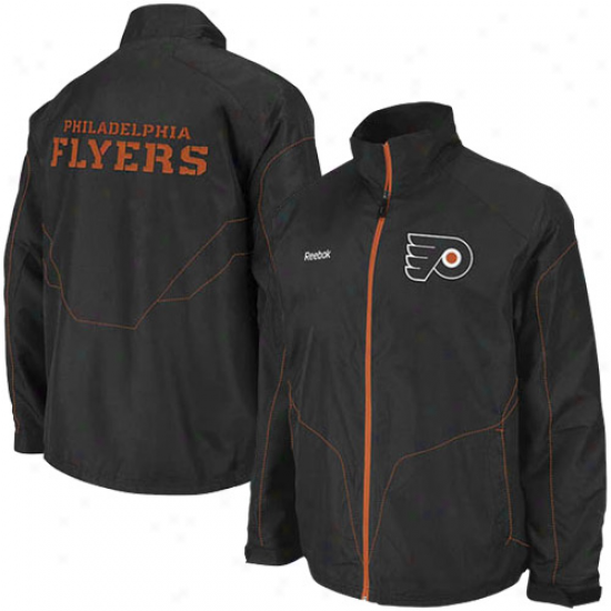 Philadelphia Flyer Jackets : Reebok Philadelphia Flyer Black Center Ice Full Zip Jackets