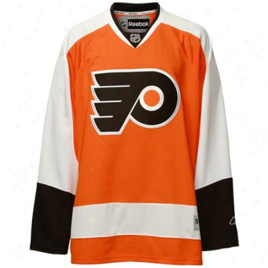 Philadelphia Flyer Jerseys : Reebok Philadelphia Flyer Orang ePremier Hockey Jerseys