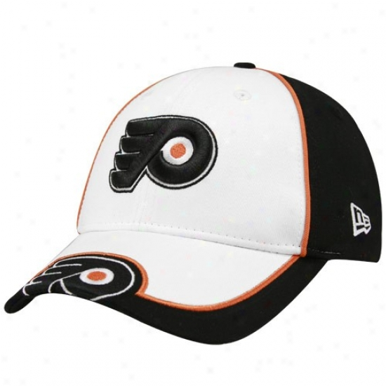 Philadelphia Flyer Merchandise: New Era Philadelphia Flyer Youth White-black Opus Adjustable Ha