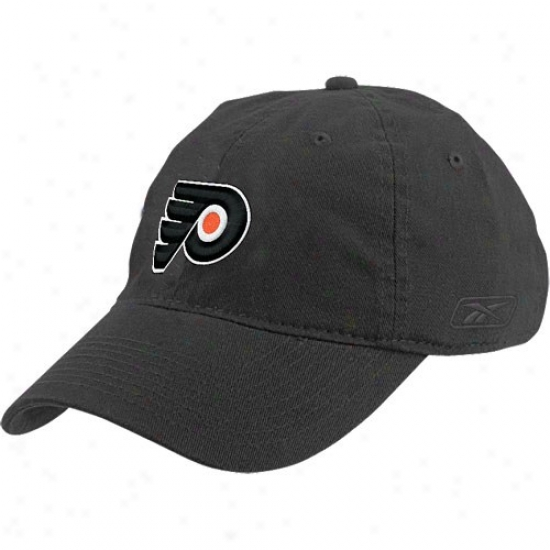 Philadelphia Flyer Merchandise: Reebok Philadelphia Flyer Black Ladies Slouch Hat