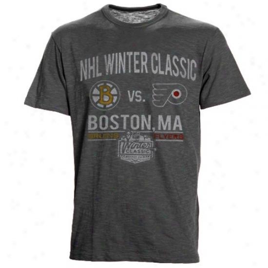 Philadelphia Flyer Shirt : Banner '47 Charcoal 2010 Nhl Winter Classic Dueling Shirt