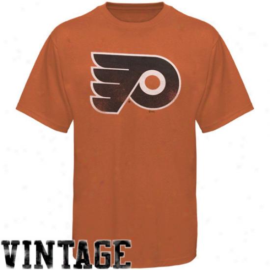 Philadelphia Flyer Shirts : Majestic Philadelphia Flyer Orange Big Time Pkay Heathered Shirts