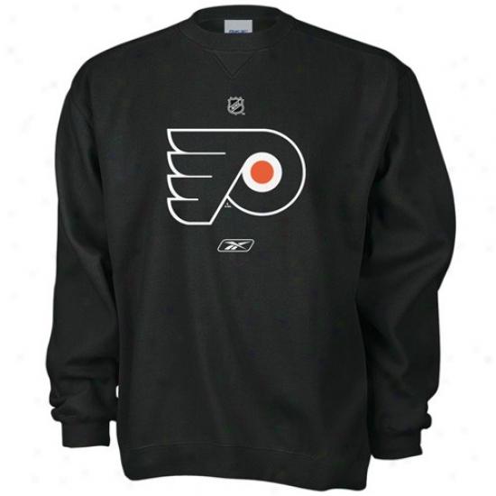 Philadelphia Flyer Sweat Shirt : Reebok Philadelphia Flyer Black Official Logo Labor Shirt