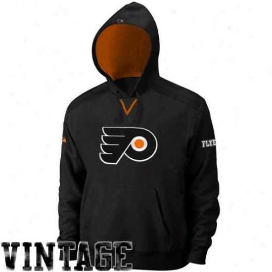 Philadelphia Flyer Sweat Shirts : Majestic Philadelphia Flyer Black Conquest Sweat Shiirts