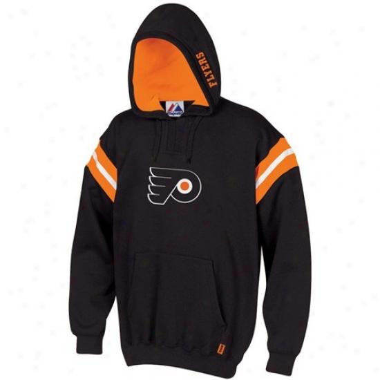 Philadelphia Flyer Sweatshirt : Majestic Philadelphi Flyer Black Pumped Up Sweatshirt