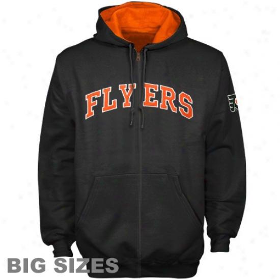 Philadelphla Flyer Sweatshirts : Philadelphia Flyer Black Full Zip Seatshirts