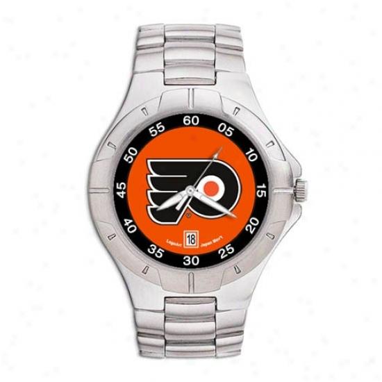 Philadelphia Flyer Watch : Philadelphia Flyer Men's Pro Ii Watch W/stainless Steel Band