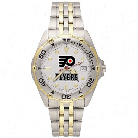 Philadelphia Flyer Wrist Watch : Philadelphia Flyer Men's Stainless Steel All-star Wrist Watch