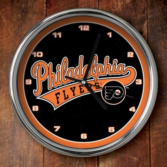 Philadelphia Flhers 12'' Chrome Clock