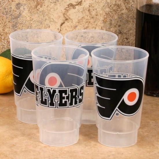 Philadelphia Flyers 4-pack 16oz. Plastic Cuups