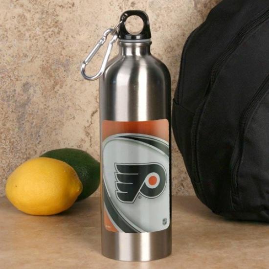 Philadelphia Flyers 750ml Stainless Steel Watet Bottle W/ Carabiner Clip