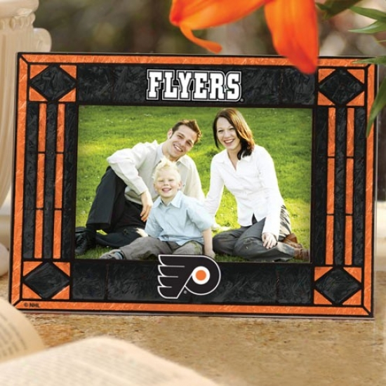 Philadelphia Flyers Art-glass Horizontal Picture Frame