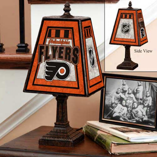 Philadelphia Flyers Art Glass Lamp
