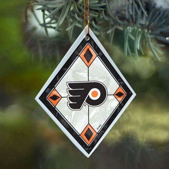 Philadelphia Flyers Art-glass Ornament