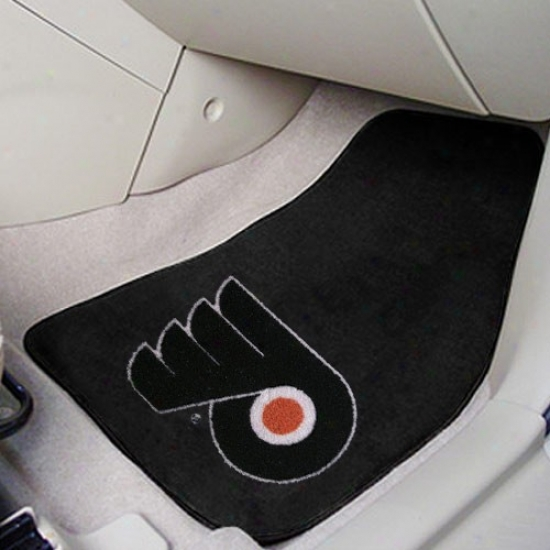 Philadelphia Flyers Black 2-piece Carpet Car Mat Set