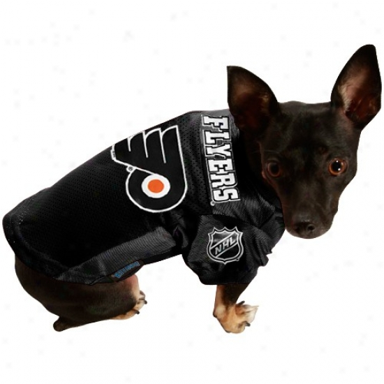 Philadelphia Flyers Black Mesh Pet Jersey