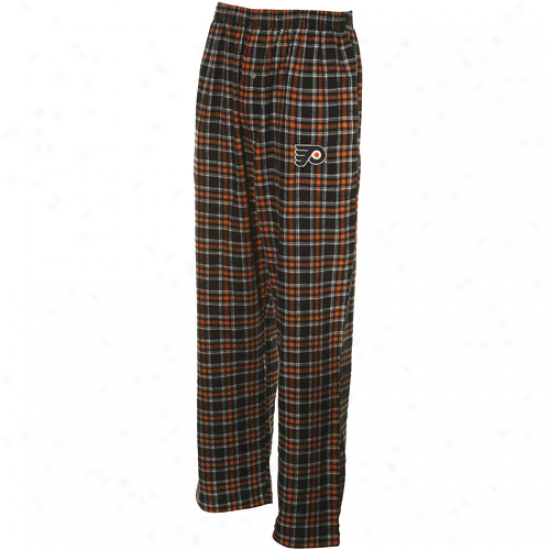 Philadelphia Flyers Black-orange Plaid Match-up Pajama Pants