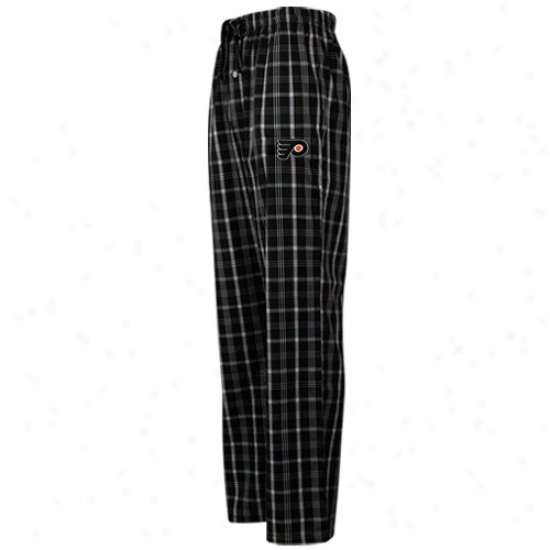 Philadelphia Flyers Black Plaid Genuine Pajama Pants