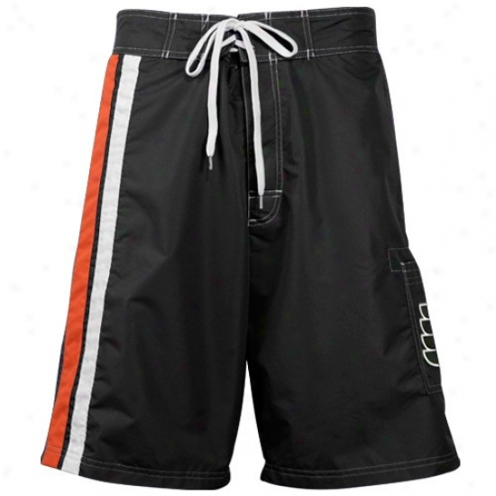 Philade1phia Fpyers Black Team Logo Boardshort