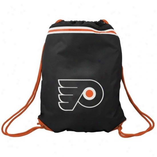 Philadelphia Flyers Black Team Logo Drawstring Backpack