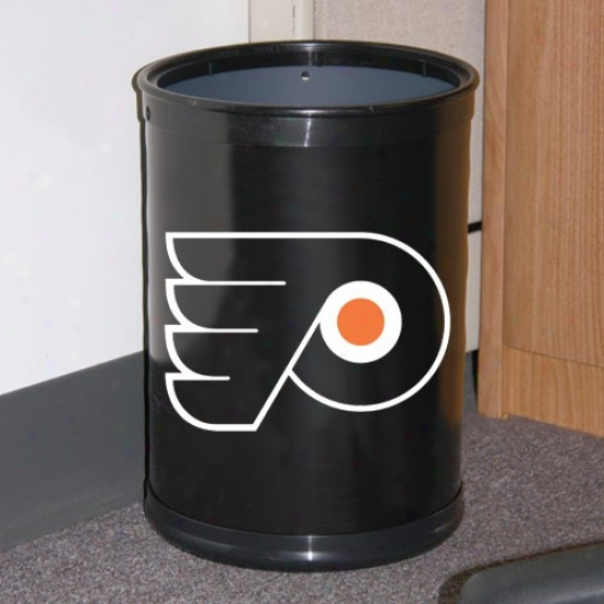 Philadelphia Flyers Black Team Wastebasket