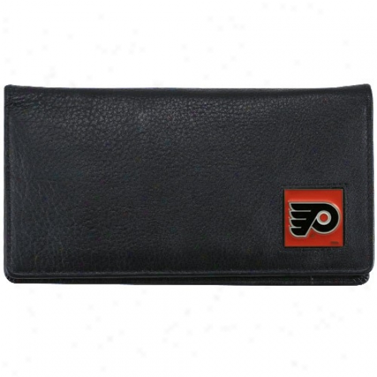 Philadelphia Flyers Executive Blacm Leather Checkbook Cover