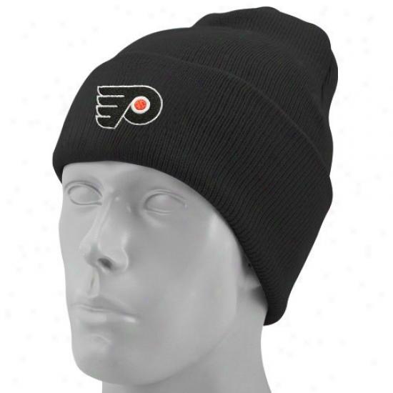 Philadelphia Flyers Gear: Reebok Philadelphia Flyers Black Watch Knit Beanie