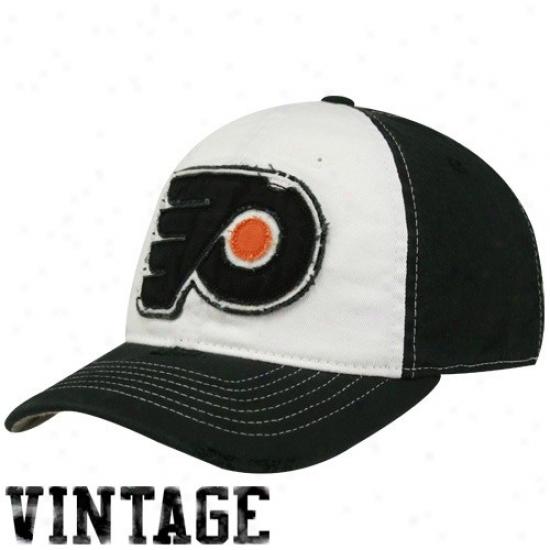 Philadelphia Flyers Cardinal's office : Reebok Philadelphia Flyers White-black Distressed Logo Flex Fit Hat