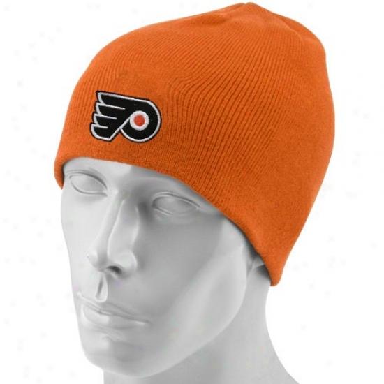 Philadelphia Flyers Hat : Reebok Philadelphia Flyers Orange Scully Knit Beanie