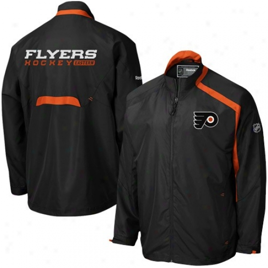 Philadelphia Flyers Jackets : Reebok Philadelphia Flyers Black Blockade Comprehensive Zip Jackets