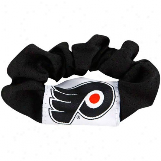 Philadelphia Flyers Ladies Black Hair Twist