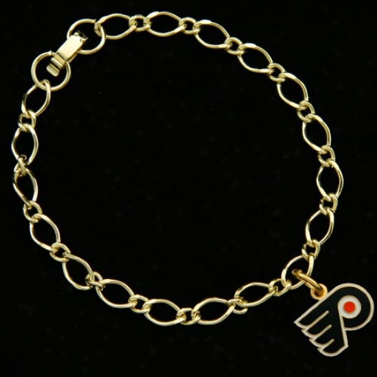Philadelphia Flyers Ladies Gold-tone Attraction Bracelet