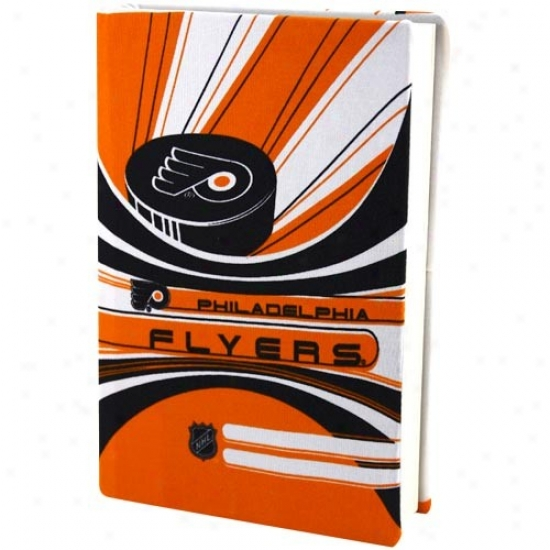 Philadelphia Flyers Orange-white Stretchable Book Cover