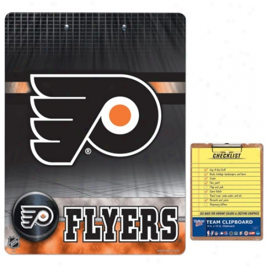 Pgiladelphia Flyers Team L0go Clipboard