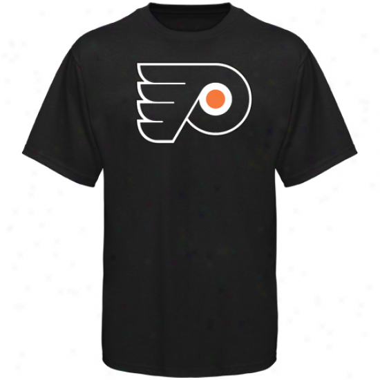 Philadelphia Flyers Tshirt : Old Time Hockey Philadelphia Flyers Black Big Logo Tshirt