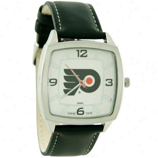 Philadelphia Flyers Watches : Philadelphia Flyers Retro Watches W/ Leather Band
