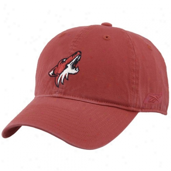 Phoenix Coyote Hats : Reebok Phoenix Coyote Brick Red Unstructured Slouch Hats