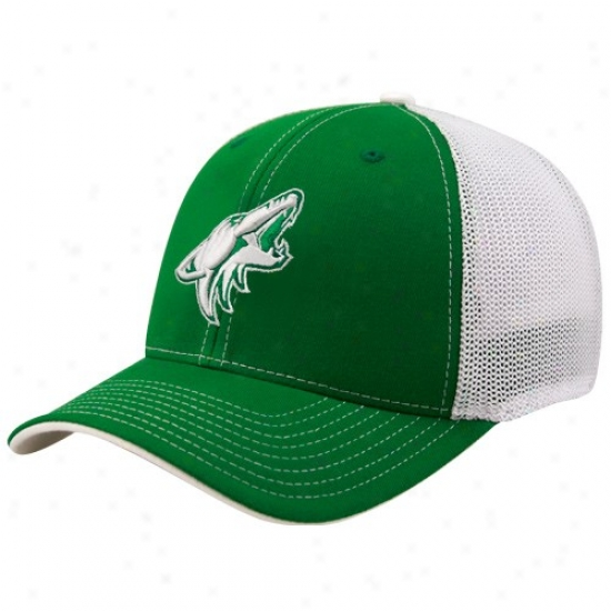 Phoenix Coyote Hats : Reebok Phoenix Coyote Kelly Green St. Patrick's Day Structured Mesh Back Flex Fit Hats